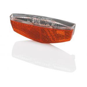 XLC Porte-bagages - Éclairage vélo - réflecteurs & feu de position inclus rouge Lampes arrière dynamo