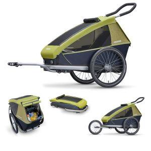 Croozer Kid for 1 - Remorque vélo - gris/vert Remorques pour enfant