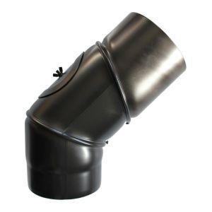 Sivac Coude à 90° orientable acier noir- Ø 150