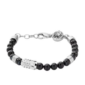 Diesel Bracelet Homme Structured Studs Noir