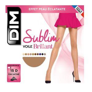 DIM Sublim Voile Brillant, Collants Femme, 15 DEN, Beige