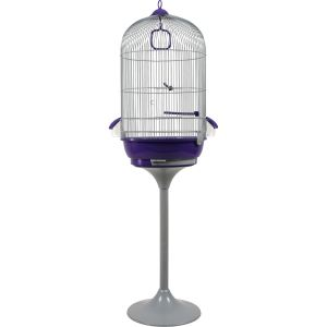 Zolux Cage avec pied Amarante pour oiseaux (39,3 x 69 x 39,3 cm)