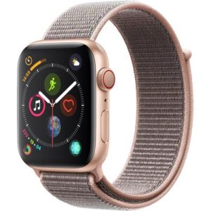 Apple Watch Series 4 Cellular 44 mm - Boîtier en Aluminium Or avec Boucle Sport Rose des sables
