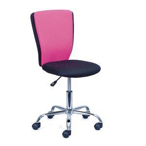 Comforium Chaise De Bureau Enfant Coloris Noir Et Rose