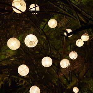 Cemonjardin Guirlande lumineuse solaire 20 lanternes
