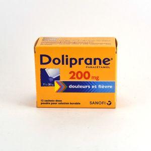 Sanofi Doliprane 200 mg - 12 Sachets pour enfant de 11 à 38 kg