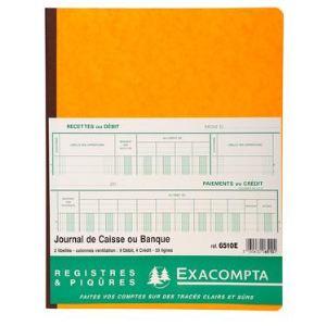 Exacompta Registre comptable piqûre caisse et banque 80 pages (250 x 320 mm)