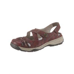 Rieker 47478 Femme Sandales de Trekking, Sandales d'outdoor,Sandale extérieure,Sandale de Sport,à Bout fermé,wine/schwarz/35,40 EU / 6.5 UK