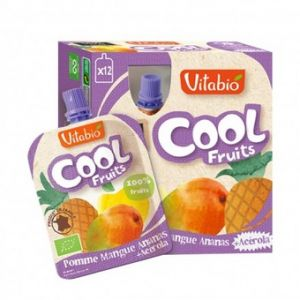 Vitabio Cool Fruits - 12 compotes Bio pomme / mangue / ananas