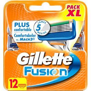 Gillette Fusion - 12 lames de rasoir