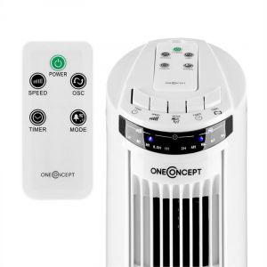 OneConcept Blitzeis - Ventilateur colonne sur pied 50 W oscillation à 45°
