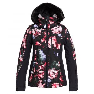 Roxy Jet Ski Premium-Veste de Snow pour Femme, True Black Blooming Party, FR