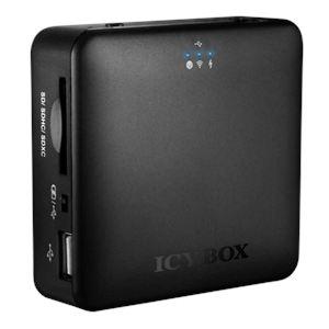 Icy box IB-WRP201SD - Boîtier d'extension de stockage avec slot SD, port USB 2.0 et connectivité Wi-Fi