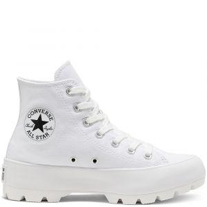 Converse Chuck Taylor All Star Lugged Hi toile Femme-37-Blanc