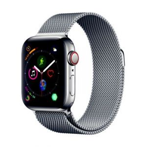 Apple Montre connectée Watch 40MM Acier/Boucle Milanais Series 4 Cell