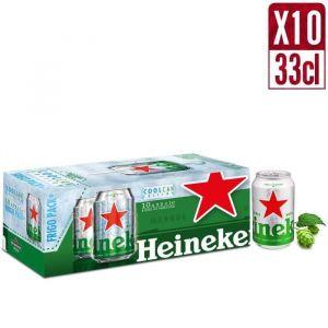 Heineken Bière blonde premium - 10x33 cl Fridgepack - 5°