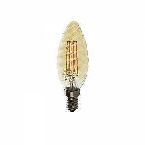 Vision-El Ampoule LED COB FILAMENT 1W (9W) E14 Torsadée dorée Blanc chaud 2700°K