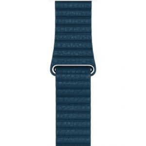 Apple 42mm Leather Loop - bracelet de montre bleu cosmos medium