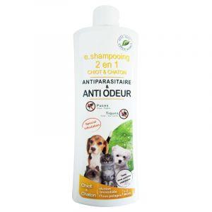 Agecom E.shampooing 2 en 1 antiparasitaire et anti-odeur pour chiot et chaton 250 ml