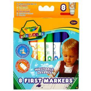 Crayola 8 feutres à colorier (lavable et pointes sécurisées)