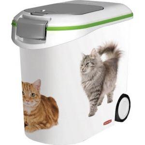 Image de Curver Conteneur à croquettes Love pets 12 Kg - Blanc - Pour chat