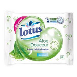 Lotus Aloe Douceur - Papier toilette humide 42 feuilles (Lot de 6)