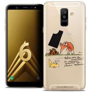 CaseInk Coque Gel Samsung Galaxy A6 PLUS 2018 (6 ) Extra Fine Les Shadoks® - Le Travail