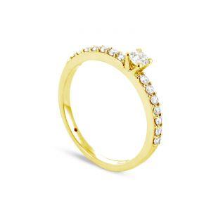 Rêve de diamants 3612030087172 - Bague en or jaune sertie de diamants