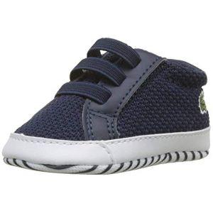 Lacoste L.12.12 Crib 318 1 Cab, Chaussures de Naissance Mixte Bébé, Bleu (NVY/WHT 092), 17/18 EU