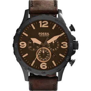 Fossil JR1487 - Montre pour homme avec bracelet en cuir