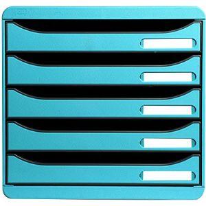 Exacompta 309782D - BIG-BOX PLUS, coloris bleu turquoise