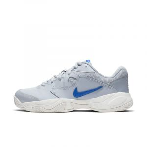Nike Chaussure de tennis pour terre battue Court Lite 2 pour Femme - Argent - Taille 39 - Female