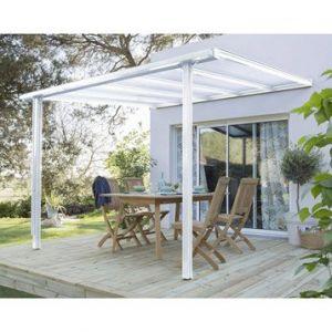 Pergola Tradition aluminium blanc 7,77 m²