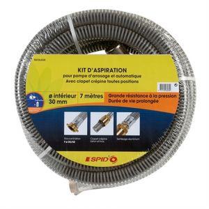 Dipra Kit d'aspiration 7 m - Sertissage aluminium Ø 25 mm