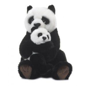 WWF Peluche Maman Panda avec bébé 28 cm