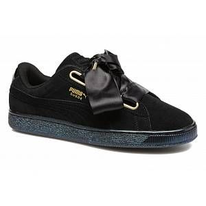 Puma Suede Heart Satin W chaussures black