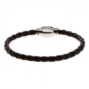 Rochet B342080 - Bracelet en acier et cuir pour homme