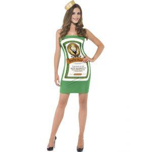 Smiffy's Déguisement Girl Party bouteille robe verte femme