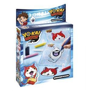 Totum BJ860032 - Kit créatif autocollants vitre Yo-Kai Watch
