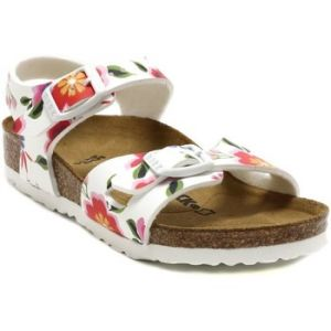 Birkenstock Rio, Sandales Bride Arriere Filles, Blanc (China Flowers White China Flowers White), 32 EU