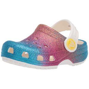 Crocs Kids - Classic Ombre Glitter Clog - Oyster Multi, Taille:24/25 EU