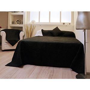 dessus de lit noir gris comparer 31 offres. Black Bedroom Furniture Sets. Home Design Ideas