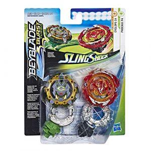 Hasbro Pack de 2 toupies Slingshock SS Phoenix P4 et Cyclops C4