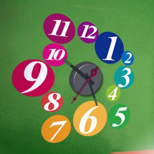 Horloge murale sticker Design Billard