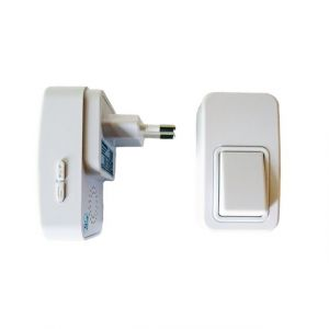 Pack sonnette sans fil et sans pile bouton et récepteur - ECO-LIFE
