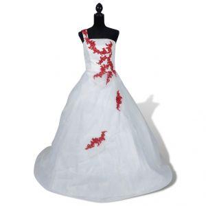 VidaXL Elégante robe de mariée en organza et satin chic