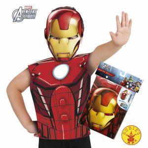 T-shirt et masque Iron Man enfant 3 à 6 ans