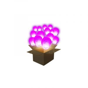 SkyLantern Lanterne Volante Balloon Rose x100 - Rose Fuchsia