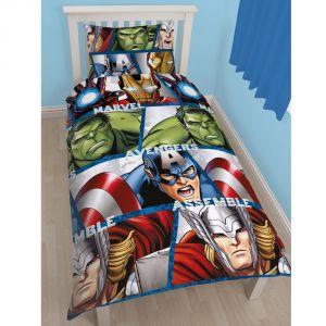 Character World Avengers - Housse de couette et taie (135 x 200 cm)