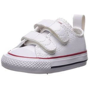 Converse Chuck Taylor CT 2v Ox, Sneakers Basses Mixte Enfant, Blanc (White 100), 23 EU